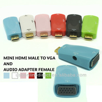 Mini HDMI Male VGA Audio for wireless hdmi transmitter and receiver Supports Ethernet,3D, and Audio Return [Newest Standard]