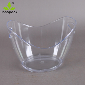 5L translucent ice bucket plastic for beer