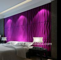 water proof and sound proof 3d wall panel bamboo fiber