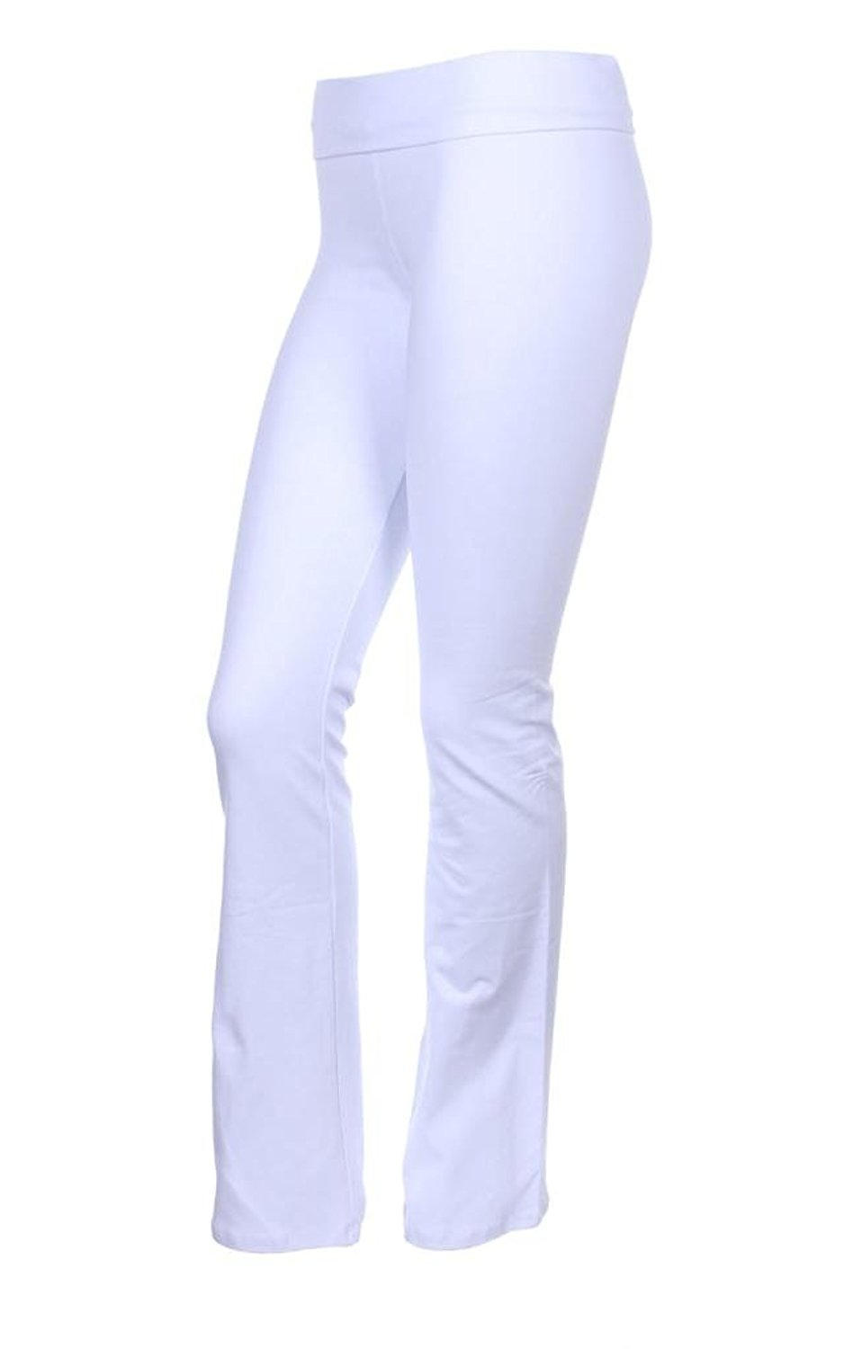 97a71befb0a28 T-Party Thick Cotton Yoga Pants with Fold Over Waistband - Tall Long Flare  Bootcut Legs - Not See Through