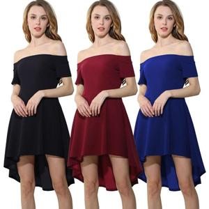 Fashion Women Dress Casual Off Shoulder Sexy Dress Party Dress