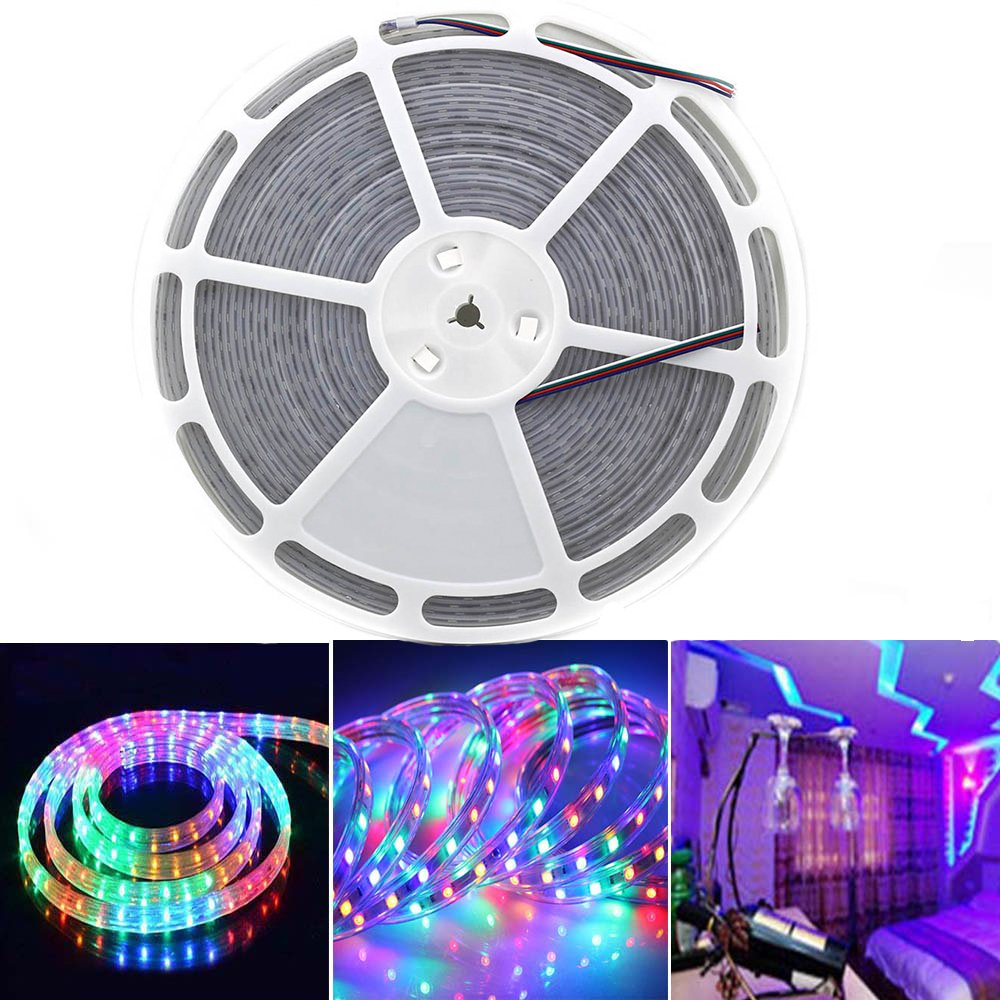 EAGWELL Strip Lights 20 m ,LED Strip Lights Waterproof DC 24V ,60 LEDs/M Colorful SMD5050 RGB 1200 LED Strip Lights 65.6ft in Outdoor or Indoor Perfect for Holiday ,Wedding,Party,Christmas, Halloween