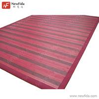 NewFida 5cm Cotton Border Trim Stripe Red & Dark Red Bamboo Area Rugs 8x10