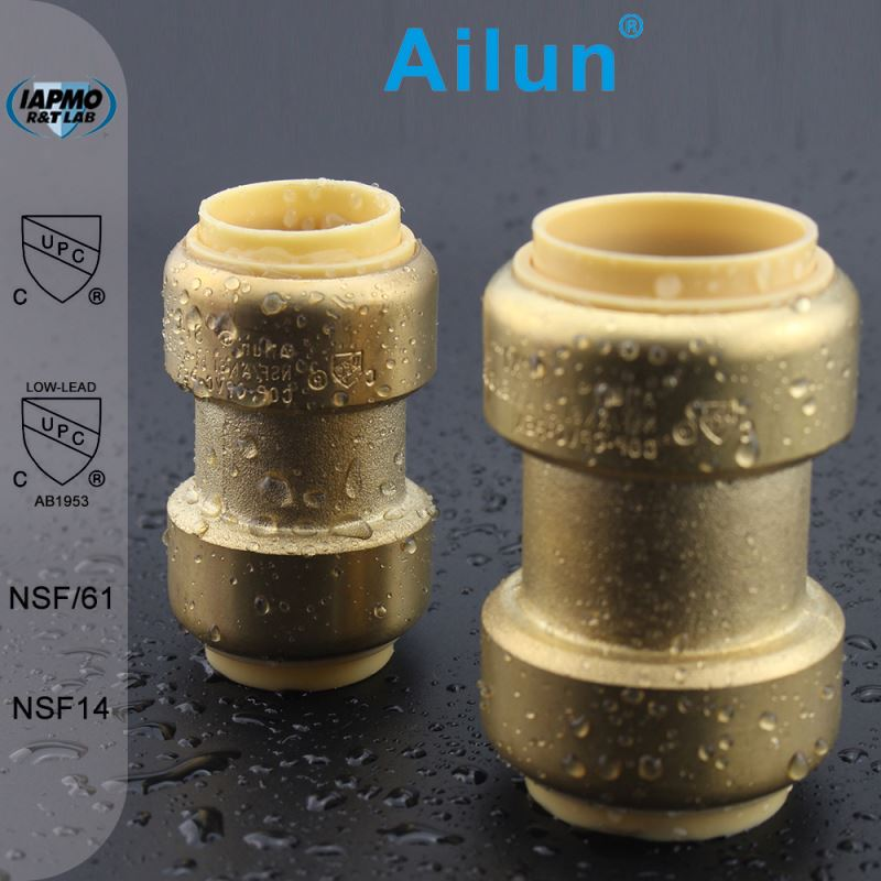 Lead free brass UPVC Reducing coupling push fit fitting
