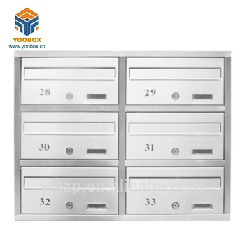 Assembled Stainless Steel Embedded Letter Box For Apartment Use