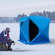 Hoge kwaliteit draagbare <span class=keywords><strong>opvouwbare</strong></span> outdoor camping Apparatuur Waterdichte Pop up winter 4 persoon ice cube vissen <span class=keywords><strong>onderdak</strong></span> tenten