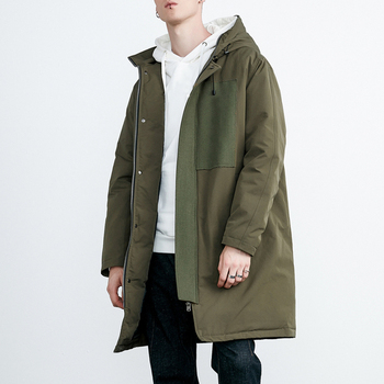 High Quality Super Warm Mens Winter Green Long Sleeve Military Parka ... ad432e721a0