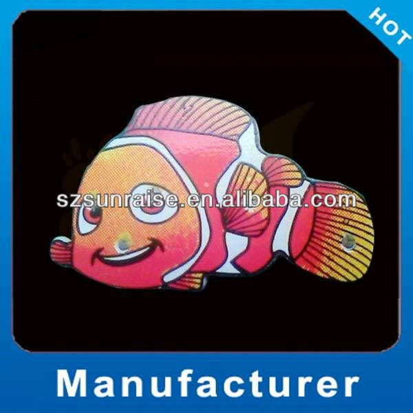 Custom fashion light up badge/el lighting badges/el flashing badge made in china