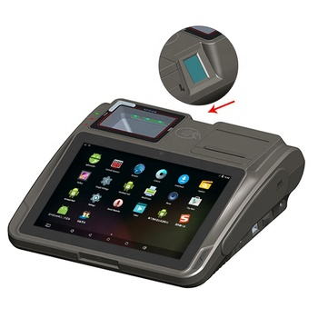 10.1 inch Android touch screen POS terminal HD screen POS system with thermal printer and fingerprint reader POS GC039G