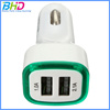 Portable mini 2 port dual usb car charger 5v 2a adapter for iphone mobile and child electric car