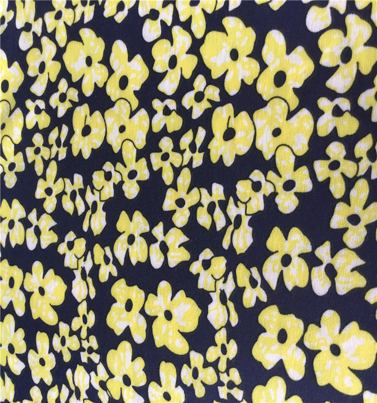 2019 small floral ponti roma fabric with digital printed for garment lady's dress skirt