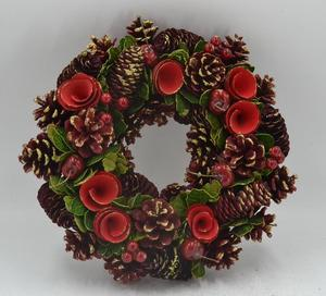 Christmas pinecone wreath christmas decorations outdoor