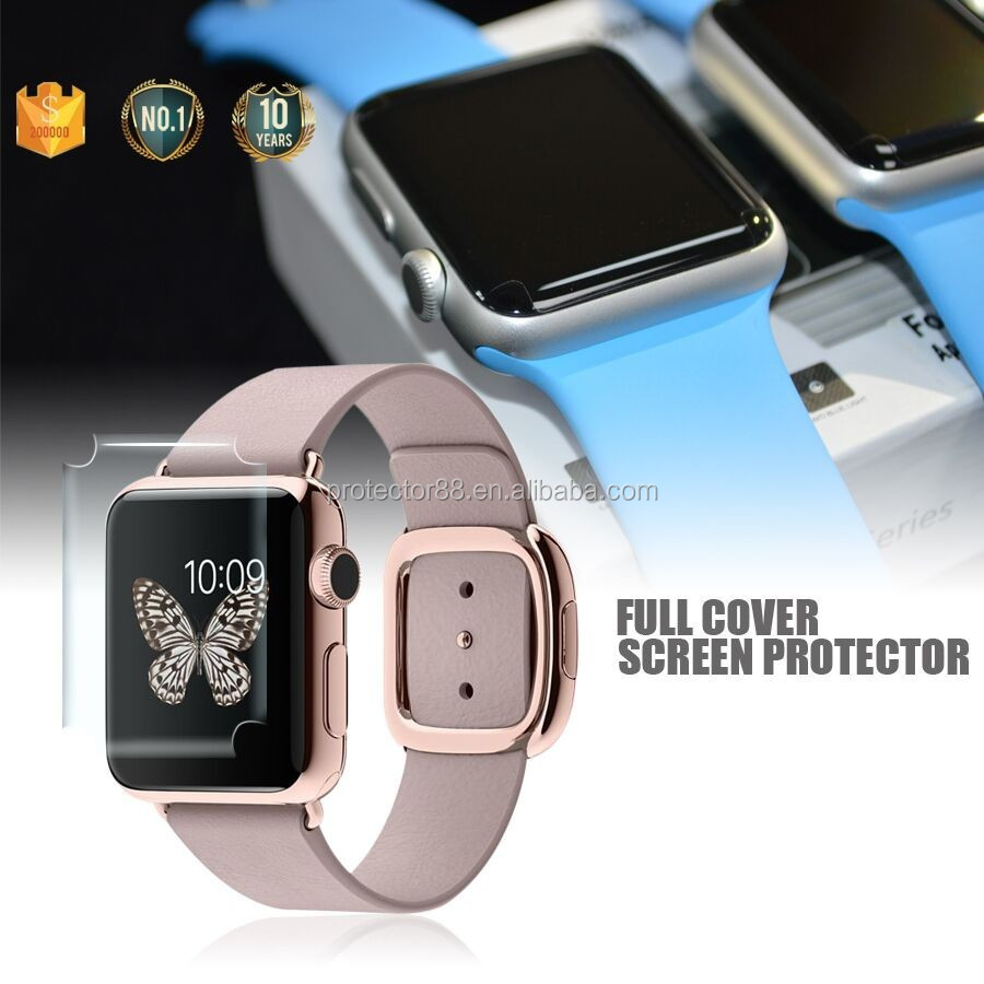 New Arrival !! Best Selling 100% Perfect Fit Full Cover Anti-shock Anti-fingerprint For Apple Watch TPU Screen Protector