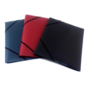 Elastic Closure Folder Type and Folder Shape Plastic File Folder with Flap