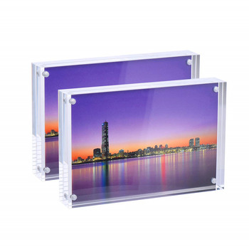 Fashion acrylic 5x7 magnetic photo frame