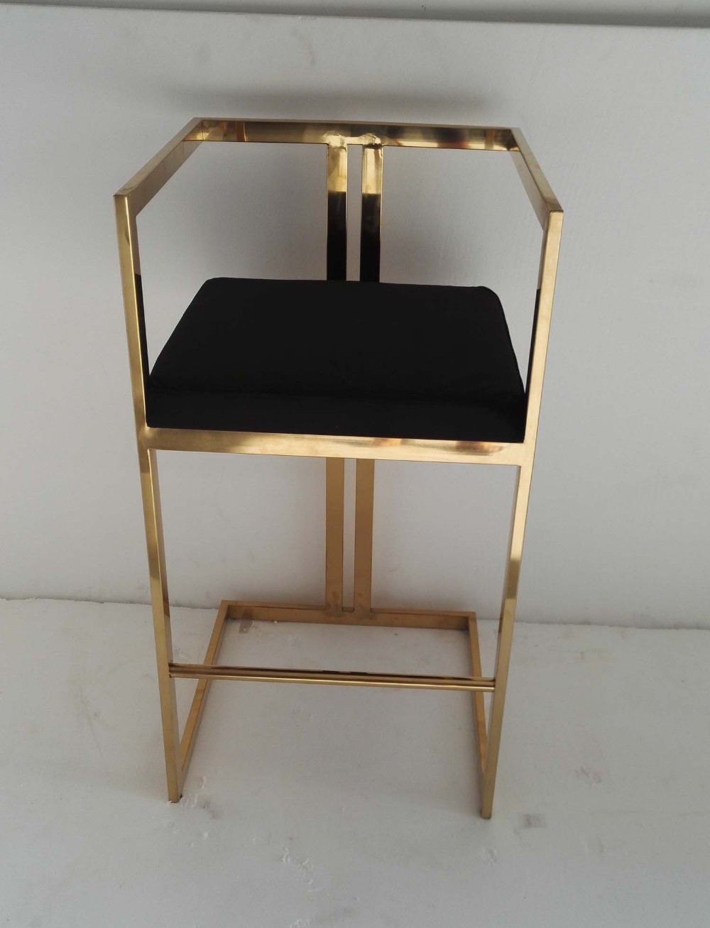 S S Bar Stool In Gold Plating Buy Stainless Steel