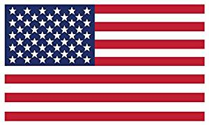 American Flag Vinyl Decals - Indoor Home, Car or Truck Use for Windshield, Rear Window, or Glass - Small, Custom Graphic with Vivid Colors - 3 x 5 (2-Pack)