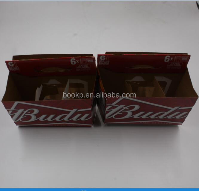 Pabrik Kustom 6 Pack Botol Karton Bergelombang Carrier Pemegang 12 Oz Botol Bir Kotak Kemasan