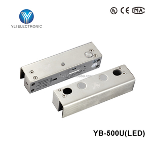 Electric Bolt Lock For Fully Frameless Glass Door YB-500U(LED)