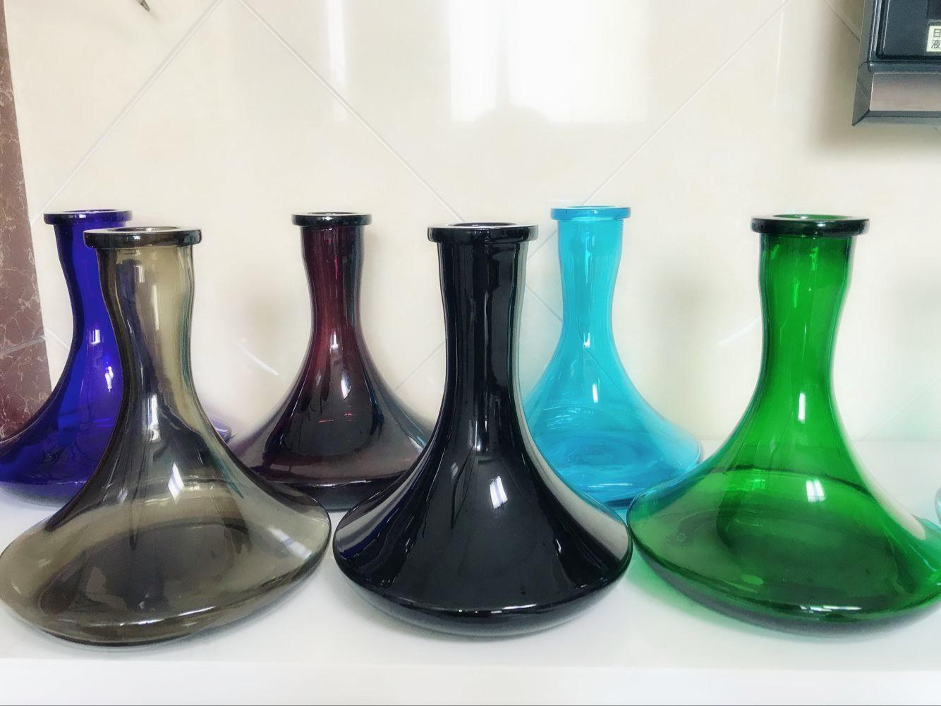 wholesale price Russian stainless steel hookah vase,glass hookah bottle