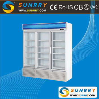 Beverage Cooler Display Cabinet Showcase Three Doors 1100l Sy Bc650c Sunrry