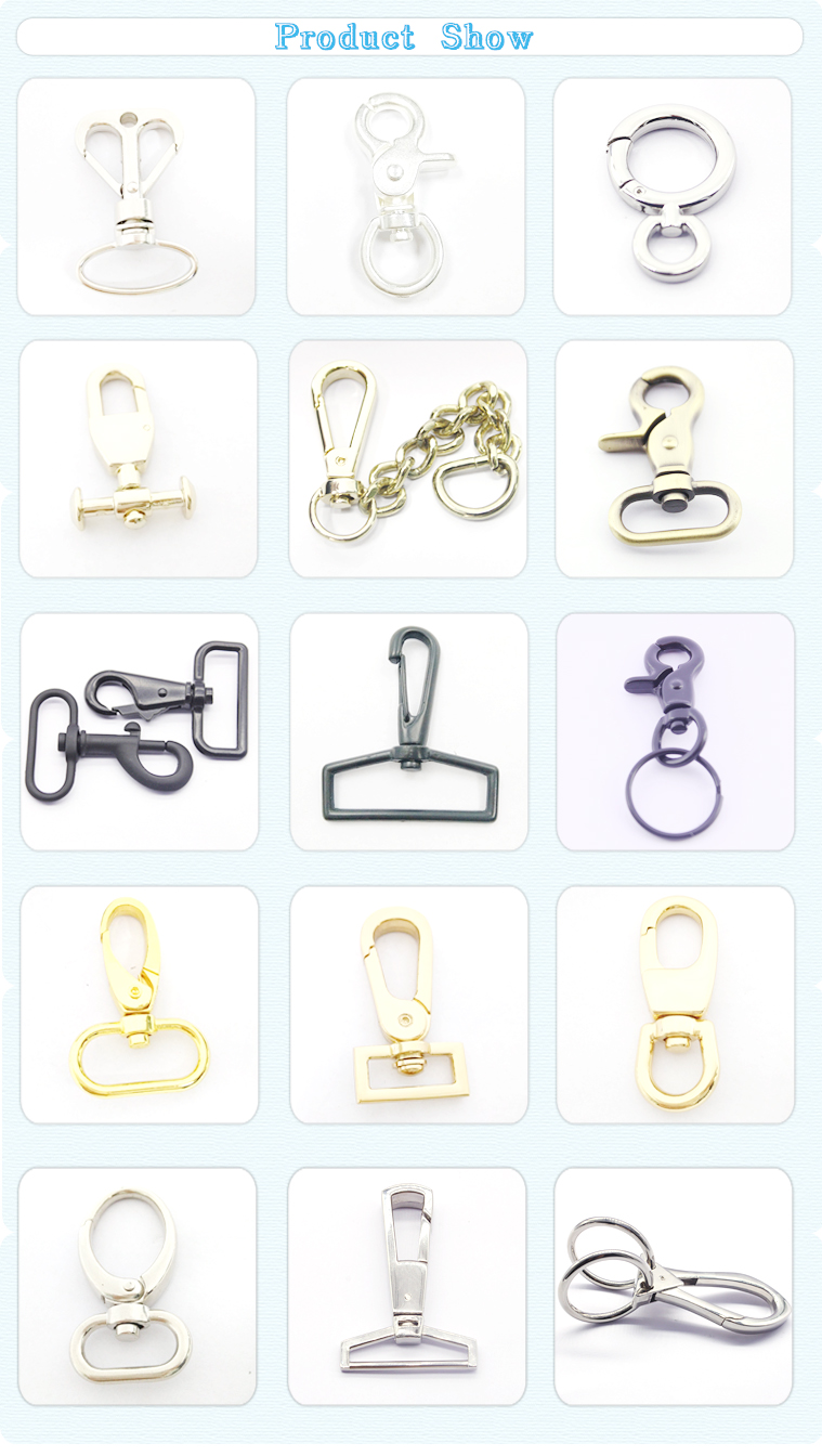 Alibaba Golden China Supplier Fine Workmanship Guangzhou Wholesale O Ring Metal Dog Snap Hook For Lady Bag