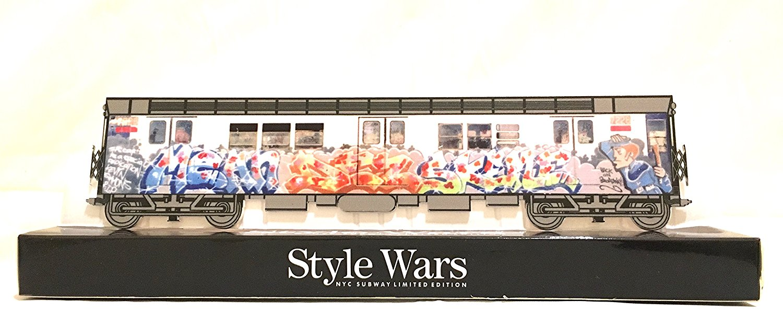Original Style Wars NYC Subway art Collection 10in Best Classic American Urban Graffiti Street Aerosol Art Hybrid laser Flat cut NYC subway Rare Collectors edition