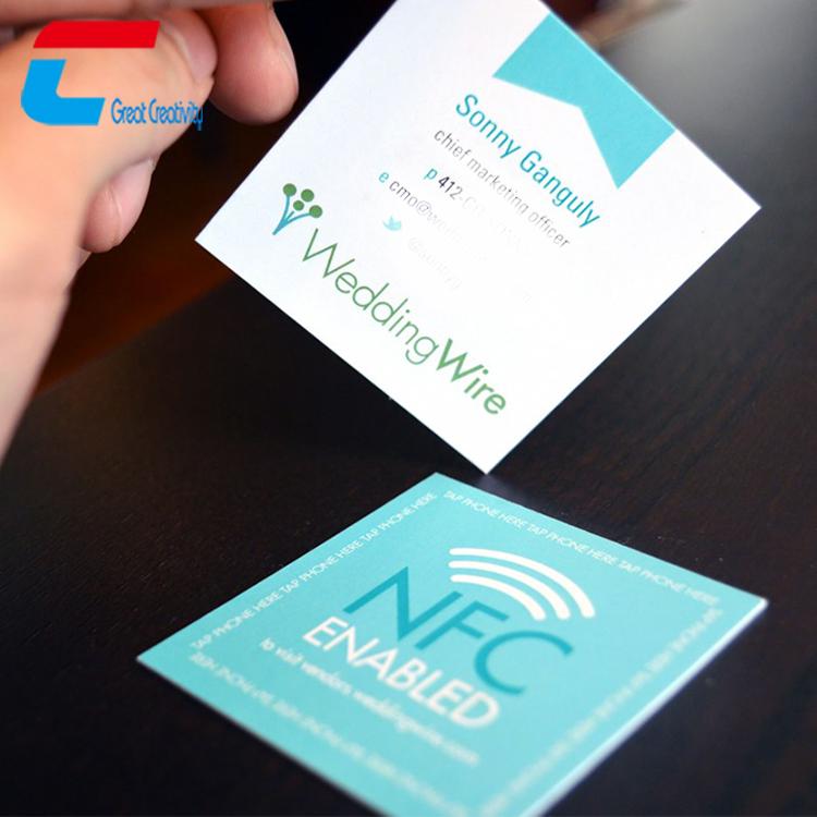 custom premium paper nfc business cards  full color