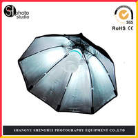 Photo Studio 70cm/27.5in Portable Octagon Flash Speedlight Speedlite Umbrella Soft Box Brolly Reflector with 2M light stand