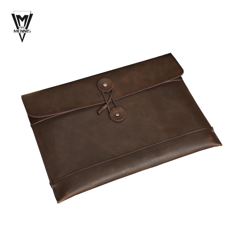 c0eeed9bc473 Get Quotations · 100% Genuine leather Men Envelope bag Briefcase Travel Bags  Vintage piad Men Bags Fashion Business