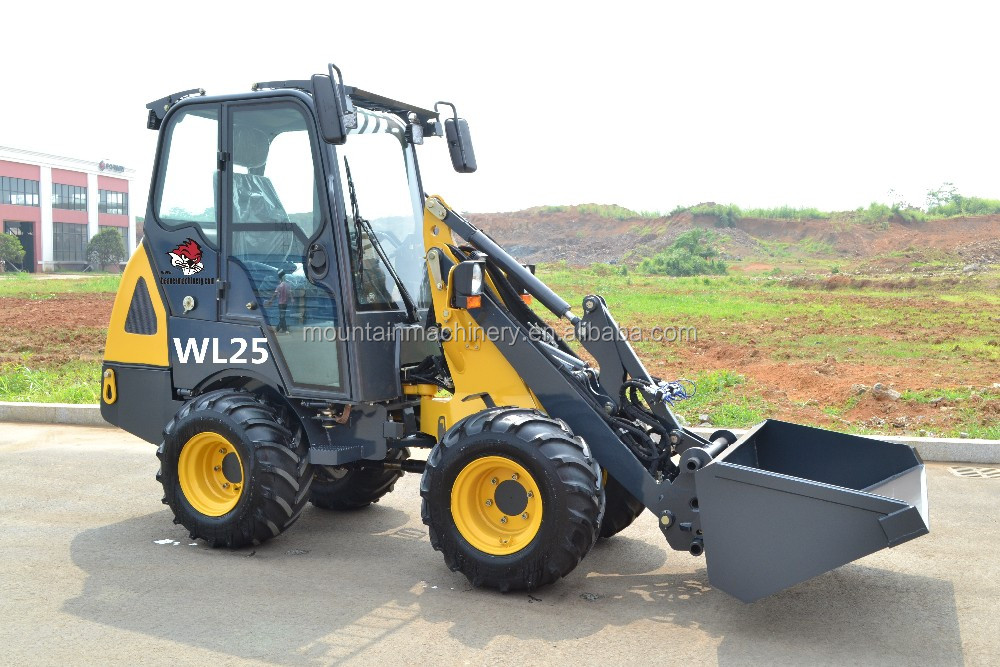 Low Price Articulated Mini Wheel Loader With Bucket For