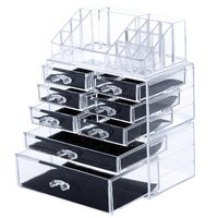 Makeup Organizer Cosmetic Storage Display Boxes Jewelry Chest 3 Pieces Set