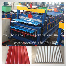 Double Layer Zinc Sheet Metal Roof Tile zinc roofing sheet making machine africa