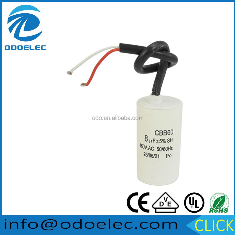 CBB60/Condensateur AC 450/V 16/UF filaire Moteur Run SH Condensateur 50//60/Hz