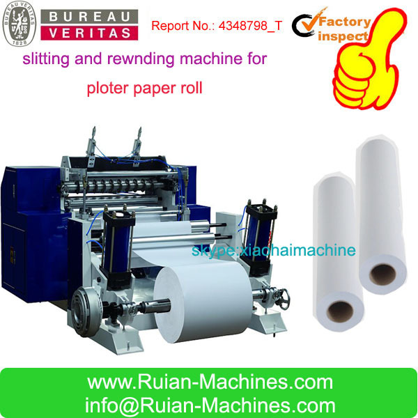 plotter photo paper Roll slitting Machine