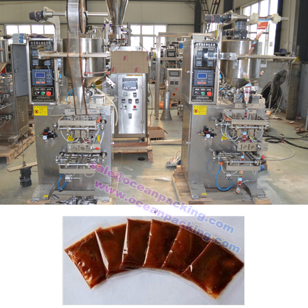 automatic sauce bag filling sealing machine