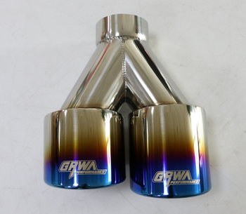 China best quality GRWA 2 chrome exhaust tip