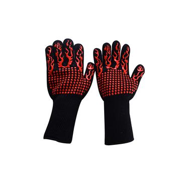 Chanhan guantes de barbacoa para cocina o hornear resistentes al calor hasta 800 /°C // 1472 /°C Guantes de barbacoa resistentes al calor