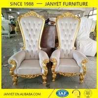 design baroque classic royal king and queen chair for sale
