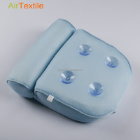 Soft and washable 3d air mesh anti bacterial home spa bath tub pillow