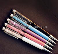 metal touch screen advertising printing logo promotional with crystal ballpiont pen