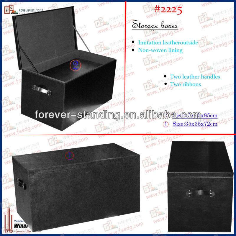 WinePackages PU leather trunk,wooden trunk,trunk box