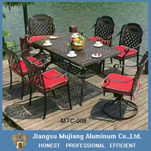 Patio outdoor casting aluminum table and chair sets for garden outside furniture
