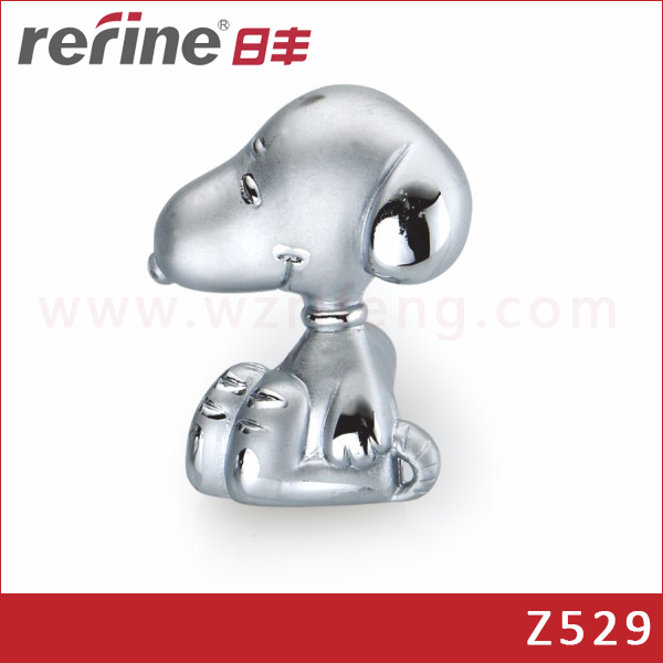 Single Hole Kids Children Bedroom Snoopy Dog Zinc Aloy Cartoon Furniture <strong>Handle</strong>