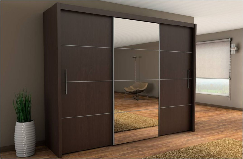 Double color wardrobe design furniture bedroom wardrobe for Bedroom wardrobe designs with dressing table