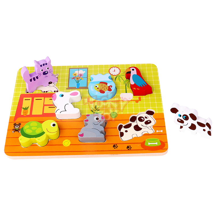 Educational Toy 3D Wood Puzzle Animal Pet