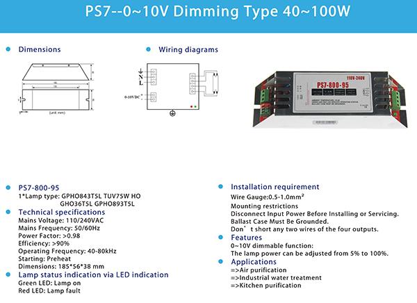 Awesome Hoog Vermogen Uv Lamp Elektronische Ballast 240W Tot 320W Ps9 Pwm Wiring Digital Resources Indicompassionincorg