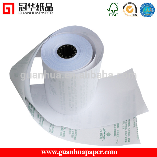 Manufacture Price high surface strength 3ply printed carbonless paper