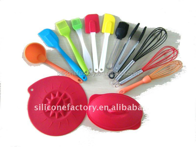 FDA LFGB confirmed custom kitchen silicone utensils set