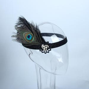 Lowosaiwor Wholesales Black feather headband,1920s Gatsby Headband,Flapper Headband HD0038